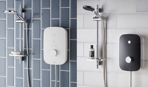 Photography of a Bristan Noctis and Solis Electric Shower