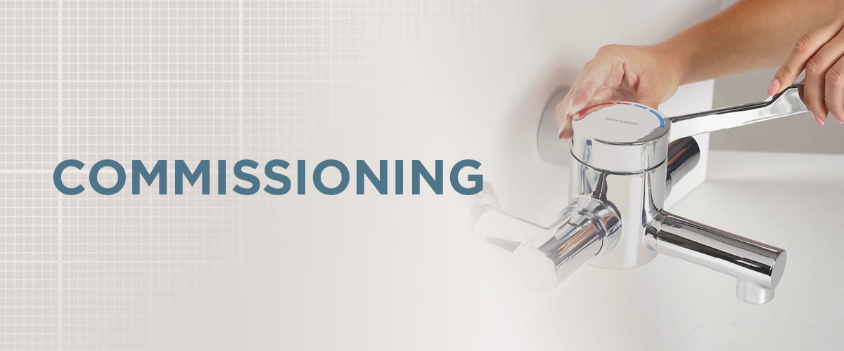 A web banner saying Commissioning