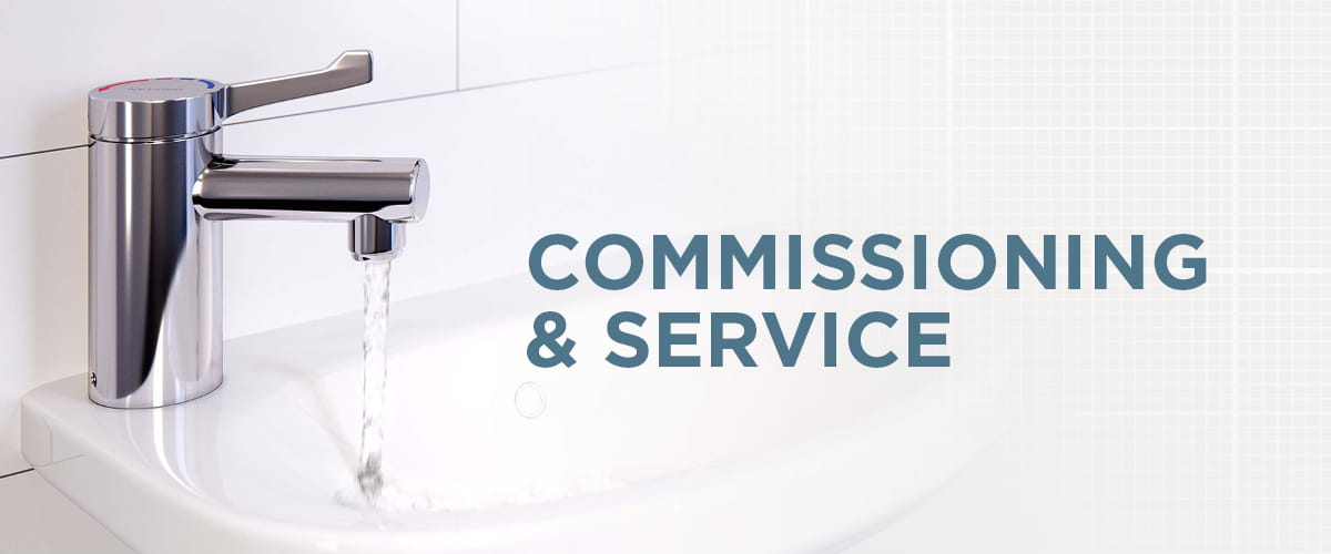 A web banner saying Commissioning and Service