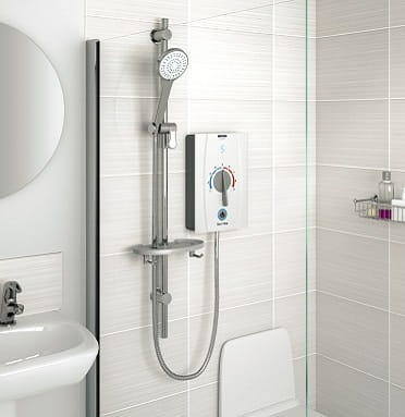 A CGI of a Bristan Joy Care Electric Shower