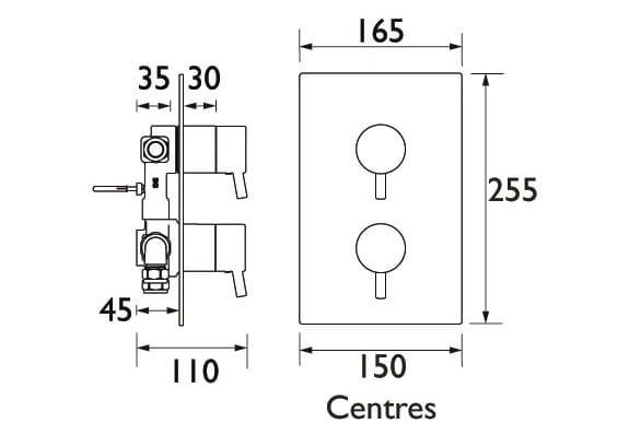 Bristan concealed shower dimensions