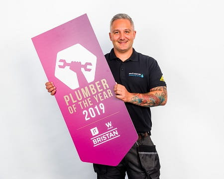 Martin Warnes, the 2019 UK Plumber of the Year.