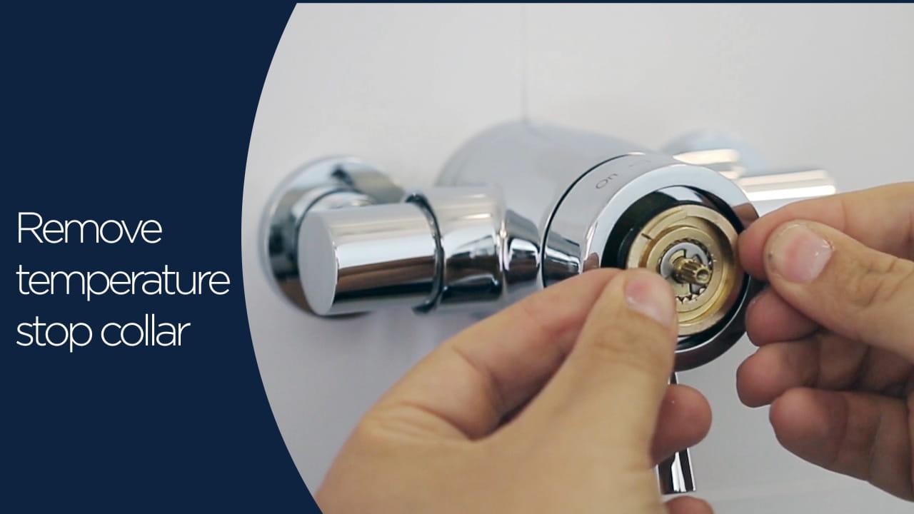 Mini valves cartridge maintanence temperature stop collar