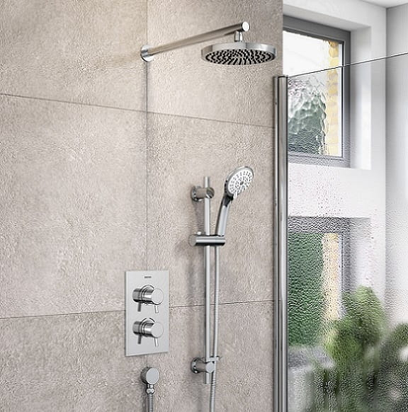 Prism recessed shower