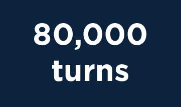 80,000 turns